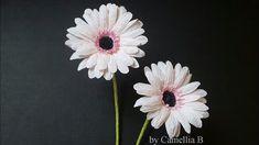 DIY - Paper Gerbera flower from crepe paper - Papel Gerbera de papel cre...
