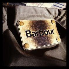 Barbour Cowen Commando interior pocket tag