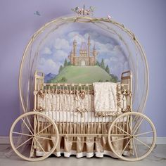 Princess Coach Iron Crib my future daughter will have to have this! Princess Coach Iron Crib from P Royal Nursery, Girl Nursery, Nursery Decor, Themed Nursery, Nursery Room, Royal Baby Rooms, Baby Nursery Ideas For Girl, Royal Babies, Nursery Design