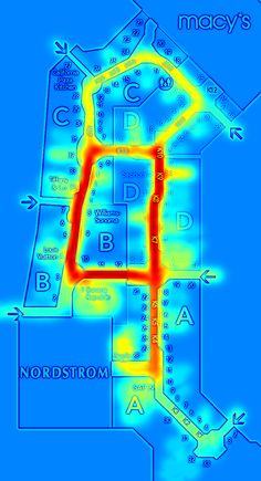This heat map reveals the secret to ikea 39 s store design for Indoor navigation design