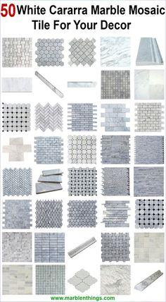 Carrara marble tile 40 white cararra marble mosaic tile for your decor. Carrara marble tile 40 white cararra marble mosaic tile for your decor. Marble Tile Bathroom, Marble Mosaic, Mosaic Tiles, Carrara Marble, Marble Bath, Tiling, Kitchen Backsplash, Backsplash Marble, Backsplash Ideas