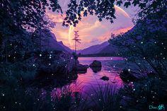 Alien Worlds, Collage Artists, Surreal Art, Digital Collage, Art Day, Celestial, Sunset, Nature, Artwork