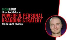 A solid personal branding strategy one of the most powerful digital marketing tactics you can employ. Personal branding expert Sam Hurley shows you how. Personal Branding Strategy, Social Networks, Social Media, Zero The Hero, Marketing Channel, Brand You, Just Love, Get Started, Entrepreneur