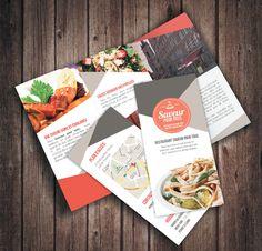 Dépliant Restaurant by Maesfranckx Justine, via Behance #flyer
