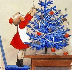 Illustration by Finnish painter Rudolf Koivu ********** Today, December is Lille Juleaften , Little Christmas Eve, in Norway. Noel Christmas, Retro Christmas, Christmas Greetings, Celtic Christmas, Christmas Decor, Elsa Beskow, Illustration Noel, Christmas Illustration, Vintage Christmas Images