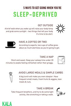 The day-after struggle is real. How can you get over that sleep-deprived hump? Here are some ideas to get you up & going.