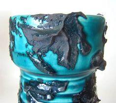 Laurentian Fat Lava Vase. 1975