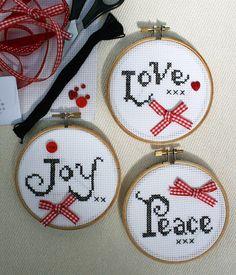 Love Joy & Peace Christmas Cross Stitch Kit                                                                                                                                                                                 More