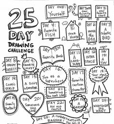 Drawing Challenge - the art room-Could use some type of marker Whatever it lands on you draw.- could paint a wall in art room white and let the kids do this on said wall :) Drawing Prompt, Drawing Lessons, Daily Drawing, Drawing Ideas, Drawing Challenge, Art Challenge, Challenge Accepted, Middle School Art, Art School