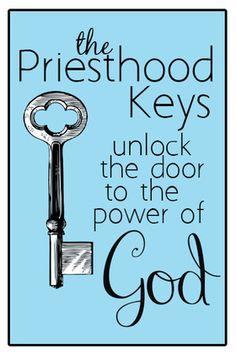 YW June lesson #2. Priesthood Keys. Printable handout & Power Point