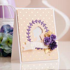 Вишукана листівка Для Тебе із квітами   Використані такі товари Spellbinders:      Машинка для різання Artisan X-Plorer     Ножі: Jewel Flowers and Flourishes S5-143, Bitty Blossoms S5-086, Silhouette IN-010, Ribbon Banners S4-324.  Автор: Яна Смакула.