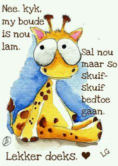 Giraffe Cartoon Drawing, Cute Animal Drawings, Cartoon Drawings, Watercolor Animals, Watercolor Paintings, Watercolour, Good Night World, Baby Animals, Cute Animals