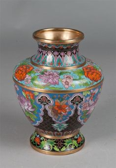A Fine Chinese Bronze and Cloisonne Vase.Chinese Art♦️More Pins Like This At FOSTERGINGER @ Pinterest ♦️