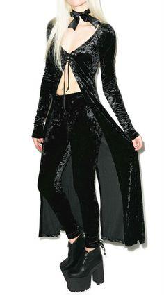 LIP SERVICE WIDOW SEXY GOTHIC VICTORIAN ROCKER OCCULT STRETCH CRUSH VELVET DRESS | eBay