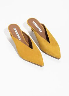 f1183bc694b3 Yellow goodness (POLIENNE). Yellow Heeled SandalsHeeled ...