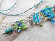 Joyería de arte mar colores tejidas a mano mini por manufabrica