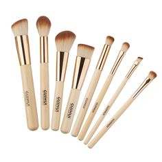 New Arrive 8PCS Professional Makeup Brushes Set Bamboo Handle Eye Shadow Eyebrow Foundation Blusher Tool 88 YF2017 #Affiliate