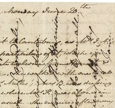 Jane Austen's crossed letter - a penpal once suggested doing this (jokingly). Can you imagine? That'd be so hard to read!