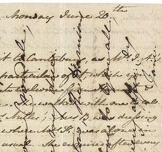 Jane Austen's crossed letter