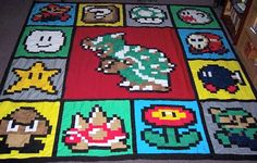 Super Mario Quilt is Super-Sized  I'll be making this soon for Jon's super late b-day gift!