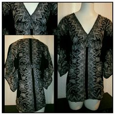 Beautiful Bohemian Style Top This Beautiful Bohemian Style Top by Angie is;100% Rayon, hand wash, drip dry Angie Tops