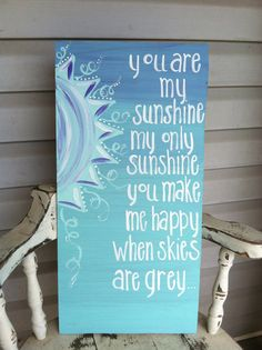 Purple and turquoise ombre You are my by RobinCastroCreations, $17.00