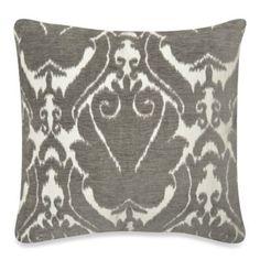 Tirrano Mika Square Toss Pillow in Grey - BedBathandBeyond.com