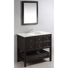 Photo On Adding style and elegance to any bathroom is simple with New Haven us beautiful espresso brown bathroom vanity The rich brown color of the walnut finish