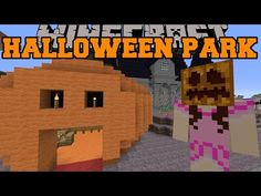 Minecraft: HALLOWEEN PARK (Zombie Maze, Graveyard, & Boat Ride!) [2] - YouTube