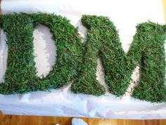 The Crafty DIY Bride: Tutorials--Moss covered letter! So cute!