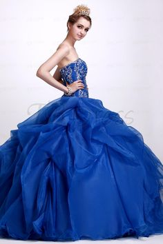 Amazing A-Line Floor-Length Strapless Angerlika's Quinceanera Ball Gown Dress