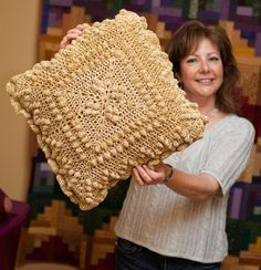 Cozy Cottage Crochet Popcorn Pillow  free pattern at: http://www.craftyarncouncil.com/oct_crochproj.html