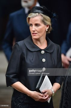The Countess of Wessex leaving the funeral of Countess Mountbatten of Burma at St Paul's Church, Knightsbridge, London. (Photo by Dominic Lipinski/PA Images via Getty Images)