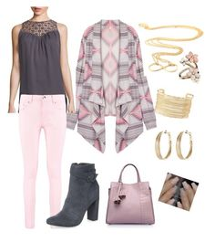 """pink casual"" by carriestoup on Polyvore featuring Ramy Brook, Boohoo, Dorothy Perkins, Charlotte Russe, Avenue and Accessorize"
