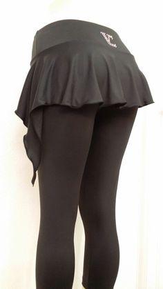 Ice Figure Skating Dress Practice Pants VC SKIRTPANTS  VCSP09 black skirtpant #VictoriasChallenge #PantsTightsLeggings