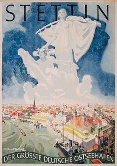 Altes Reiseplakat Stettin 1934 Poster