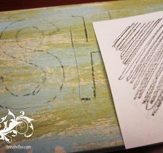 easy way to transfer to a surface....crayon rubbings!