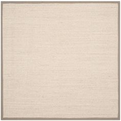 Natural Fiber Marble/Khaki (Marble/Green) 6 ft. x 6 ft. Square Area Rug