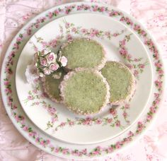 Cherry Blossom Green Tea Cookies omnivorus.com