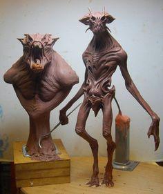 New alien maquette by ~BOULARIS on deviantART