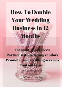 How To Double Your Wedding Business in 12 Months - Grow and increase your wedding sales with our step by step guide. How to be a wedding planner planner How To Double Your Wedding Business in 12 Months Event Planning Tips, Event Planning Business, Business Planner, Wedding Planning, Business Ideas, Party Planning, Business Names, Event Ideas, Party Ideas