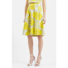 Topshop 'Sunrise' Floral Print Midi Skirt (2,075 PHP) ❤ liked on Polyvore