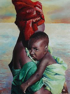 Mother and Child, Contemporary Art ~ Africa