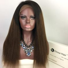 Virgin Brazilian Human Hair Lace Front Wig Heavy Yaki Straight 1BT#30 Ombre Kinky Straight Full Lace Wig Kinky Straight Full Lace Wig Yaki Straight Lace front Wig Ombre Full Lace Wig Online with $363.55/Piece on Diosahair's Store | DHgate.com Colored Wigs, Straight Lace Front Wigs, Wigs Online, Lace Wigs, Kinky, Hair, Fashion, Moda, La Mode