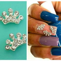 ** Product of the Day ** Petite Rhinestone Crowns  These sparkly beauties add shine to any mani!  Shop @ myprettypieces.com  http://myprettypieces.com/product/petite-rhinestone-crowns