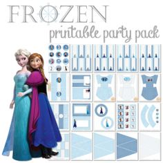 Frozen Printable Party Pack ishareprintables.com #frozen