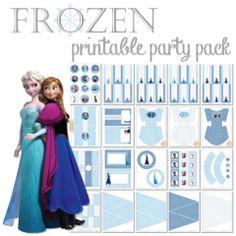 Frozen Printable Party Pack ishareprintables.com #frozen