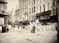 Rue de la Roquette, 1ère barricade, 18 mars 1871