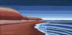Beach Walk PEI - Acrylic Painting by Susan Christensen Group Of Seven Paintings, Beach Walk, Landscape Paintings, Emily Carr, Art Gallery, Painters, Illustration, Outdoor, Image