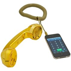 David Turpin & Native Union's  POP! Handset Gold $60 - Sometimes I really wish I had one of these.